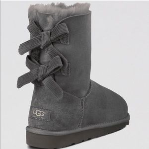 bailey bow corduroy UGG Boots in grey